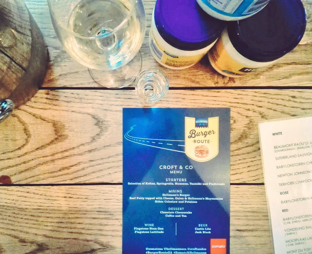 Today we're @Croftandco with @HellmannsZA to try the famous #BurgerRouteZA burger. #ZomatoXHellmanns https://t.co/PGhl3NlEox