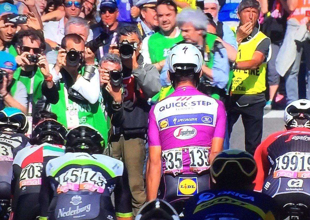 #giro STAGE 13 - Sprint win #FernandoGaviria (Fourth sprint victory) #giro100 #giroItalia  2 #SamBennett  3 #JasperStuyven<br>http://pic.twitter.com/LfxFfi9g5e