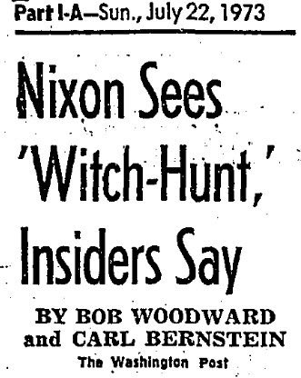 &quot;This is the single greatest witch hunt of a politician in American history!&quot;  Sound familiar? #FlashbackFriday <br>http://pic.twitter.com/bP1MMRc4ar
