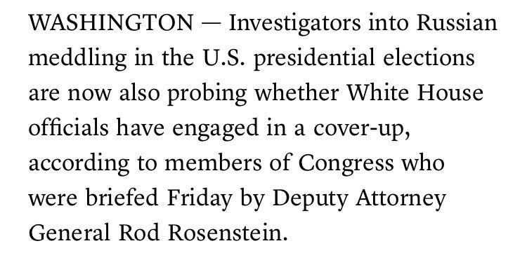 @McClatchyDC . reports Congress was told Russia probe is exploring whether White House officials engaged in a coverhttps://t.co/2Md6enRofHup
