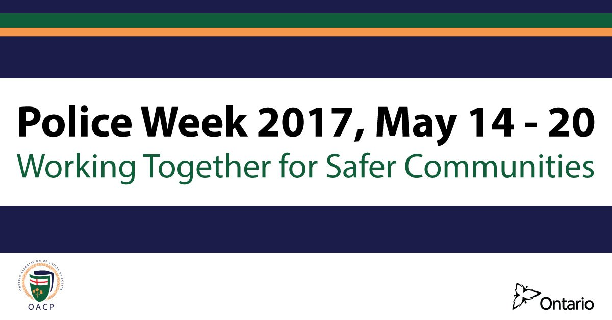 As we wrap up #PoliceWeekON thanks to all of our @gpsmedia partners &amp; community members who work with us throughout the year.<br>http://pic.twitter.com/pkoHZyz6US