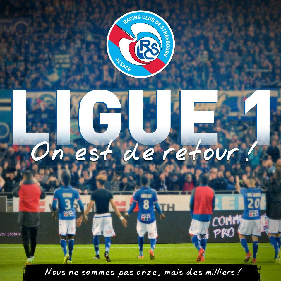 Le Racing Club Strasbourg en Ligue 1  #RCSAFBBP #strasbourg #Racing<br>http://pic.twitter.com/fDkdFssPud