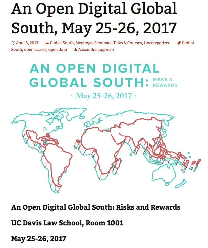 It's the opportunity to make science an actual global conversation which privileges the development of humanity #OpenGlobalSouth https://t.co/tkig4DQ4pz