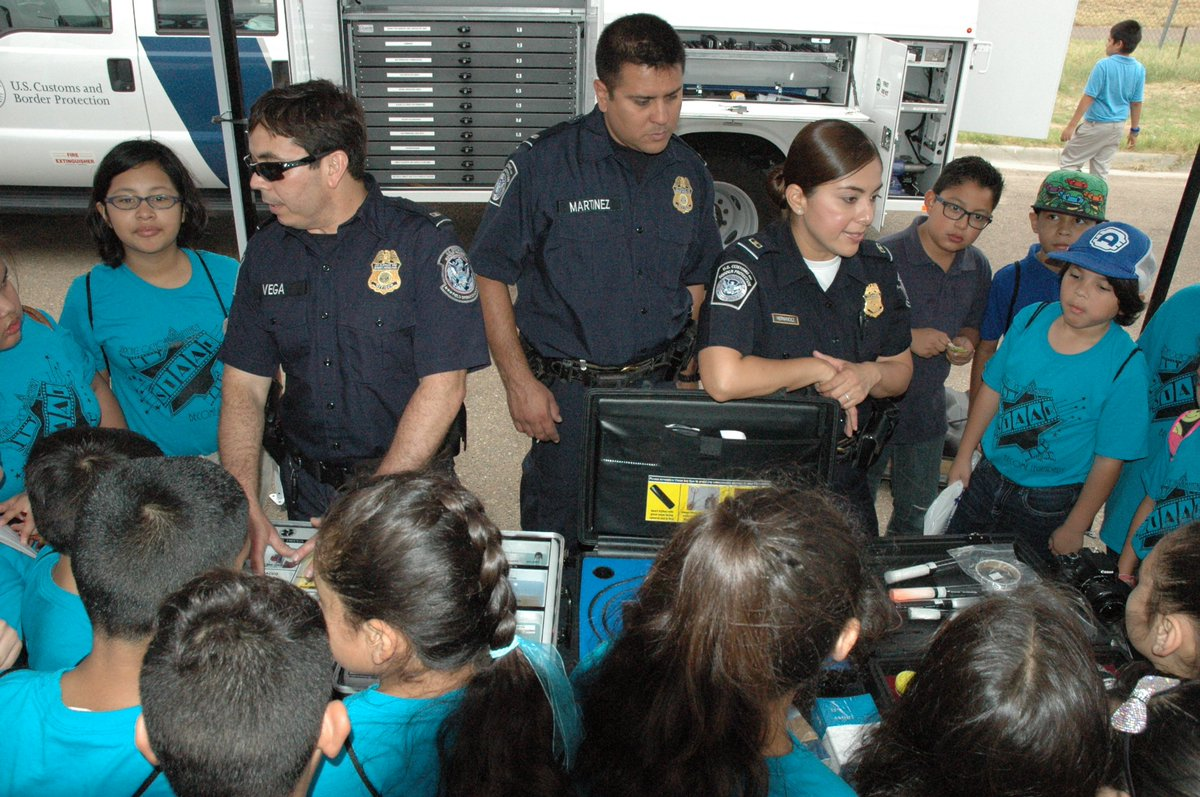 laredo poe cbp officers staff information booths at le expo generate significant interest from local students during npw2017pictwittercomawm4w4bmw1 cbp officer job description