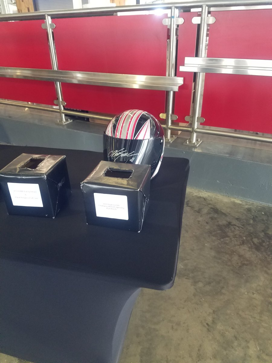 One of the items being raffled @DISupdates #Nascarday Kurt Busch autographed <br>http://pic.twitter.com/FTacb3cWlg