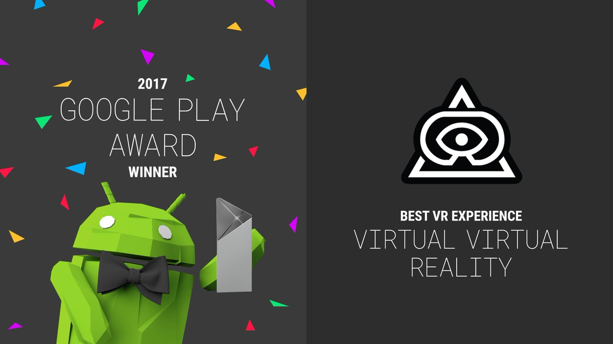 Congratulations to @TenderClaws on their @GooglePlay Award. Explore deeper realities and find your calling in VVR. play.google.com/store/apps/det…
