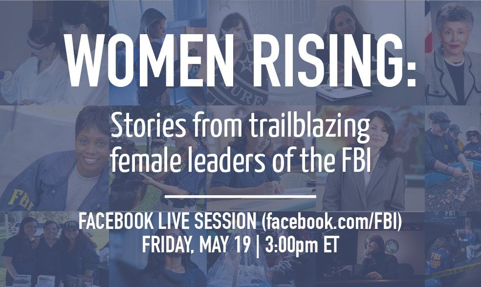Join us today at 3:00pm EST for a Facebook Live session with trailblazing women in top leadership positions in the FBI. #FBILive. <br>http://pic.twitter.com/77138H7XoQ