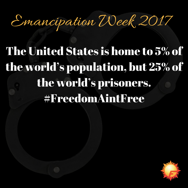 The US is home to 5% of the world&#39;s population, but 25% of the world&#39;s prisoners #FreedomAintFree <br>http://pic.twitter.com/GOuItpS7mQ