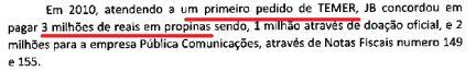 Joesley Batista afirma que Temer recebeu ao menos 3 milhões de reais em propinas. Acompanhe ao vivo: https://t.co/YP3GAIm4KR