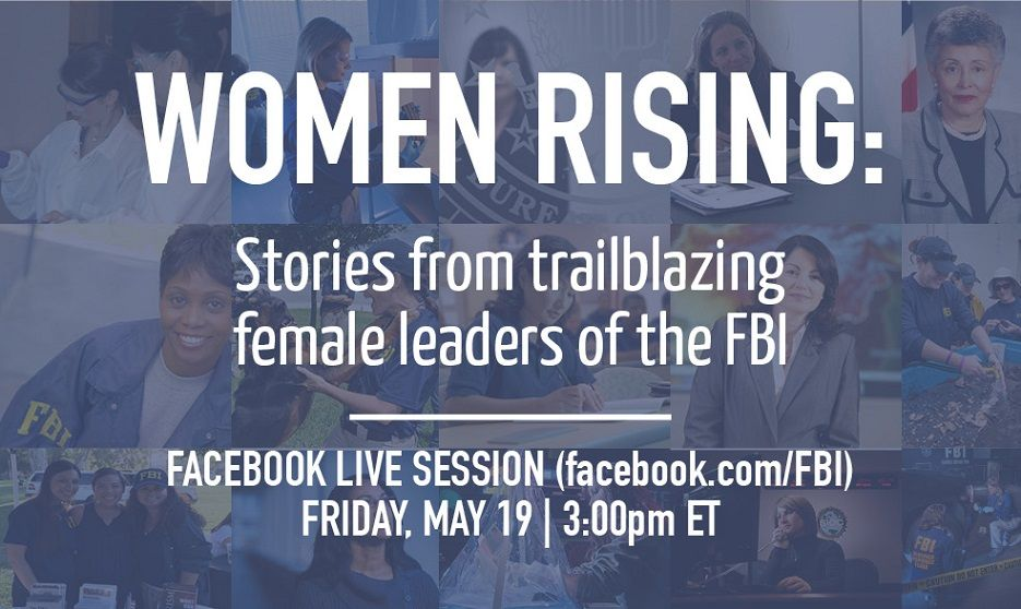 Tune in to hear stories about the women of the FBI: today at 3:00 PM EST on Facebook Live!  https://www. facebook.com/FBI/videos/101 55247105486212/ &nbsp; …  #FBILive <br>http://pic.twitter.com/VY2eRhPCWx