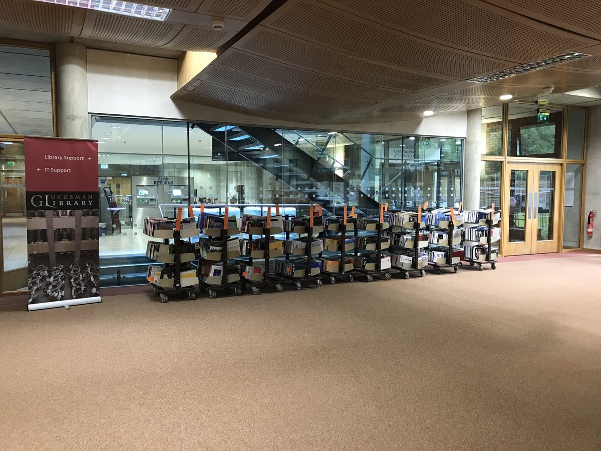 Lots of books on the move this week at #ULLibrary, all part of the big push to get ready for #ULNewLibrary <br>http://pic.twitter.com/zu30VI5Iul