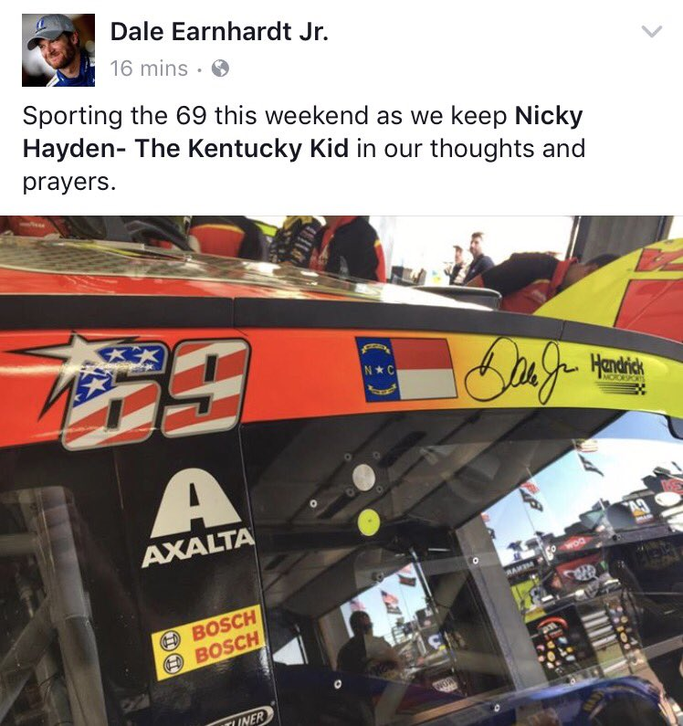 There is a reason why @DaleJr is my mom's favorite! And why @JimmieJohnson is mine! ☺️#69 💪