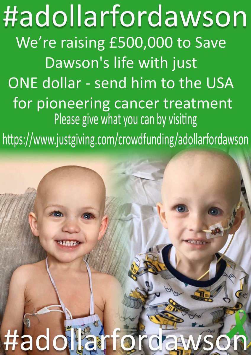 Please can everyone #RetweeetPlease Time is not on his side &amp; Dawson needs this treatment now. #adollarfordawson #rt #retweet #dawsonsarmy<br>http://pic.twitter.com/I9OUN2rQCv