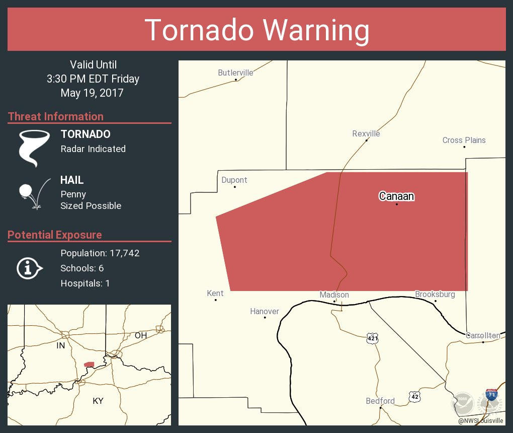 Tornado Warning including Canaan IN until 3:30 PM EDT