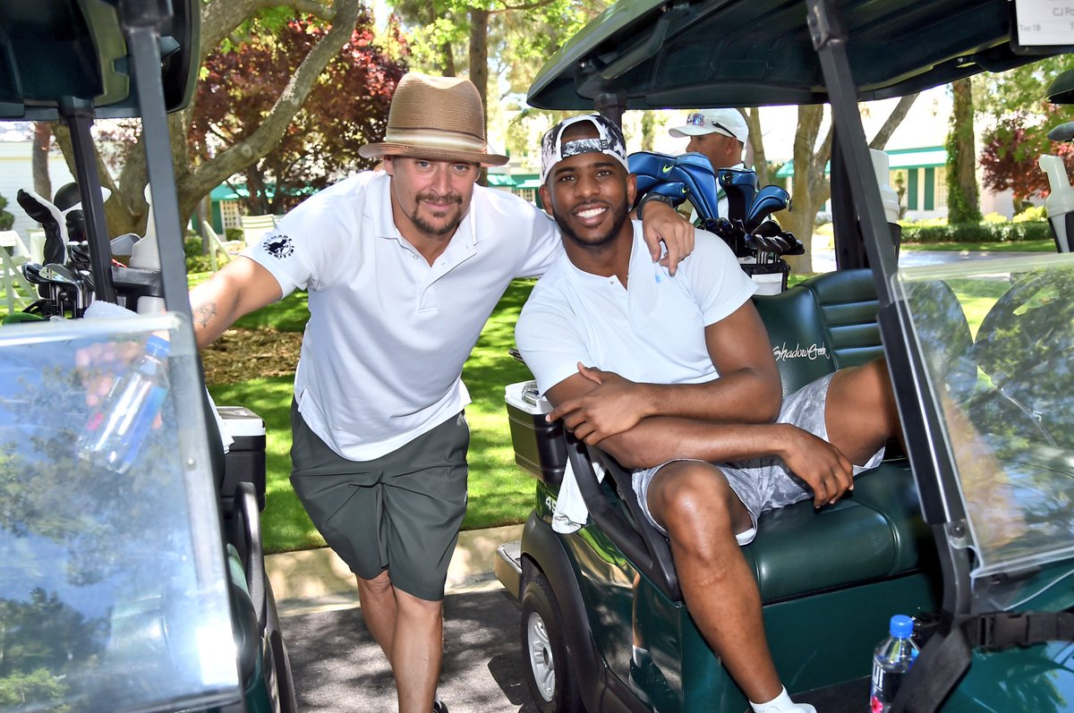It\'s so great to have @KidRock and @CP3 here at #TigerJam supporting the @TWFoundation. #ReachMillions