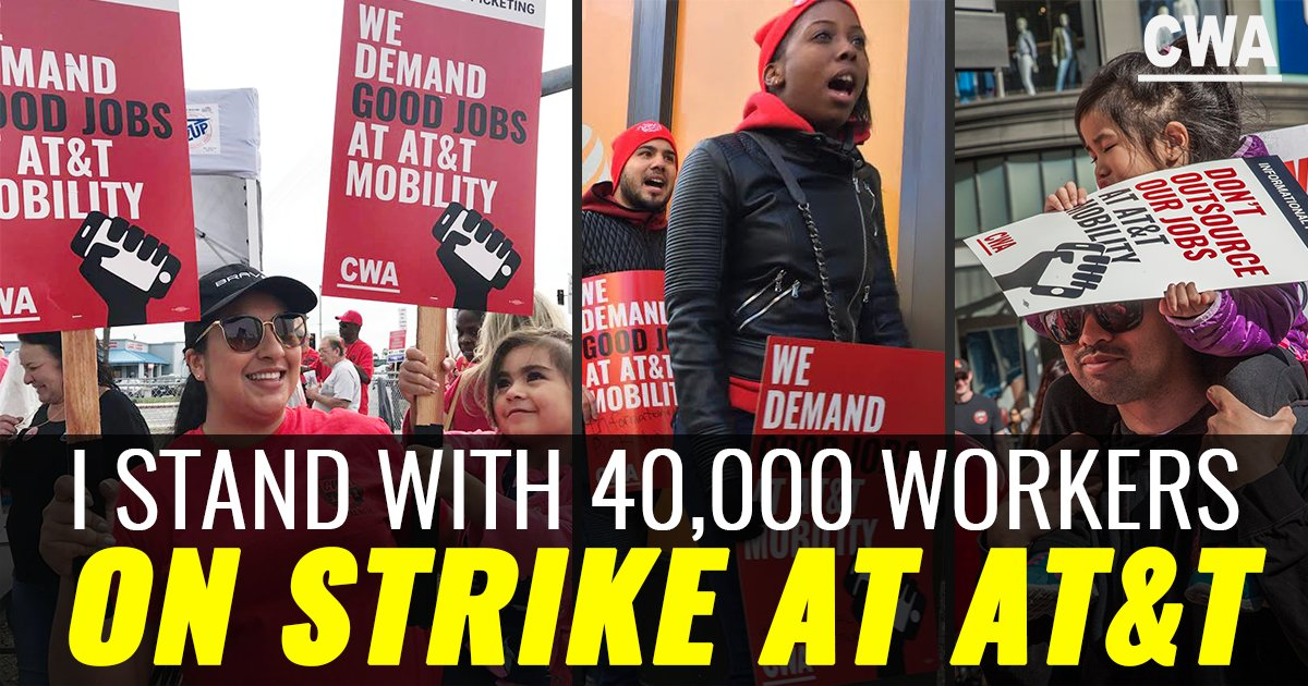 We stand with 40,000 workers striking ag...