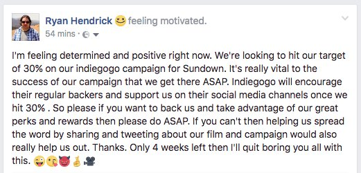 A post from our Director @ryanhendrick6 #RetweeetPlease #SupportIndieFilm #indiefilm #FridayLove #crowdfunding #crowdfund #Scottish #film<br>http://pic.twitter.com/UzAkBYb226