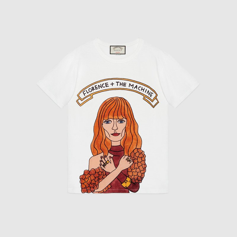 226d187a571 Amazing Florence + The Machine limited edition t-shirt created by   angelicahicks x  gucci!