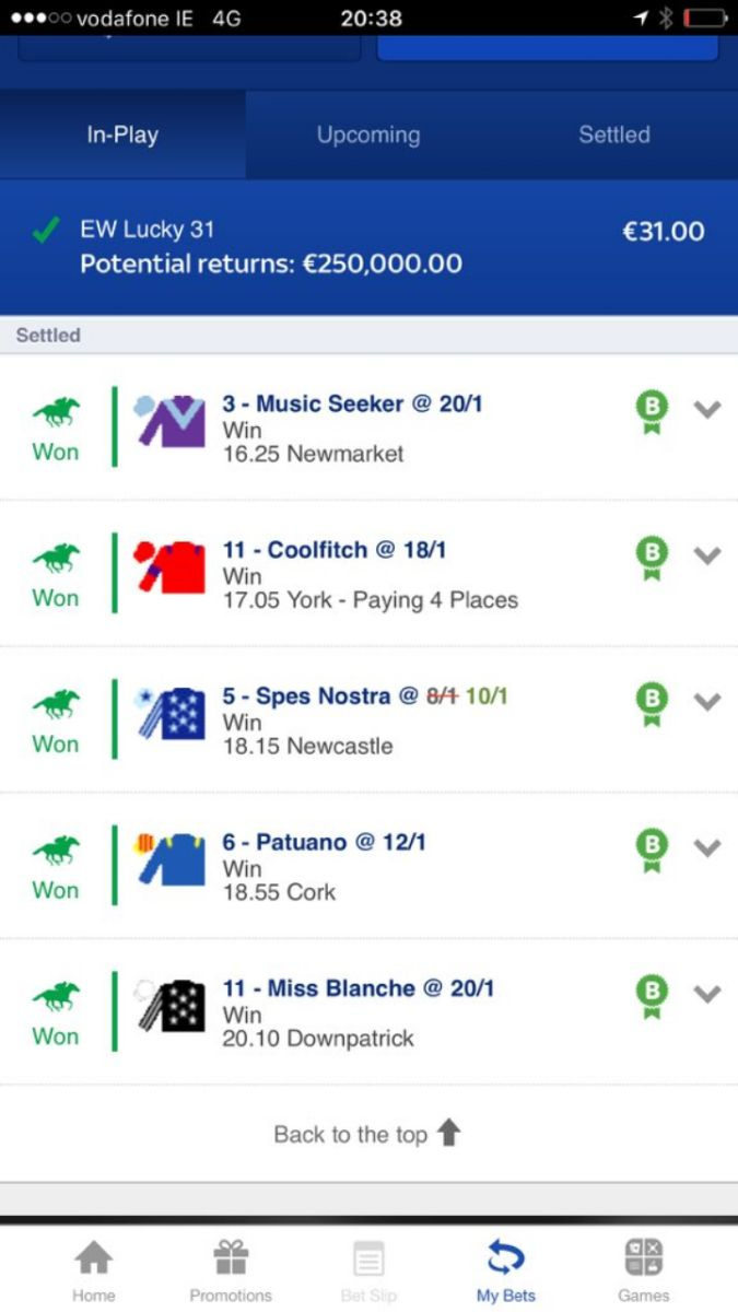 CHECK THIS OUT   One of our followers has SMASHED it using @myracingtips in a EW Lucky 31 with @SkyBet!   MAX PAYOUT!  #BookieBashing <br>http://pic.twitter.com/Muimz5D1Mz