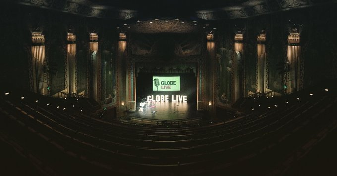 The stage is set. Tonight, before a live audience at Paramount theater: @BostonGlobe journalists telling stories live.