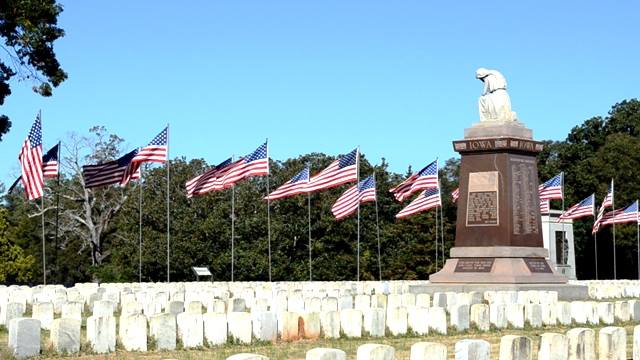 From the Andersonville National Historic Site Twitter account: Our Avenue of Flags went up today in celebration of Memorial Day! You can view these rows of American flags in the cemetery until May 31.