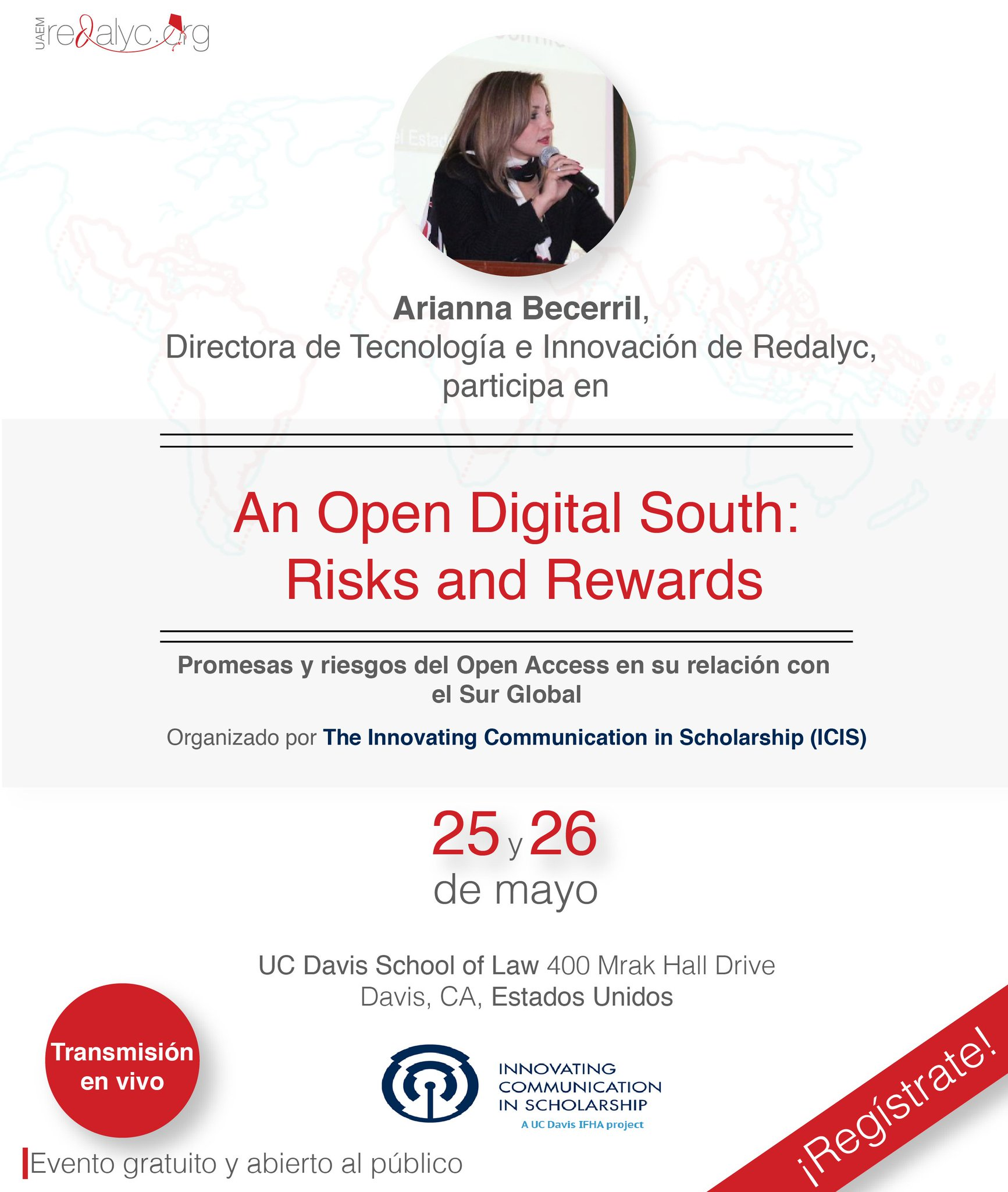 #AgendaRedalyc | An Open Digital South: Risks and Rewards. Mayo 25 y 26. #OpenGlobalSouth Registro: https://t.co/dK62TUsUUW https://t.co/iNQ6yfwJWk