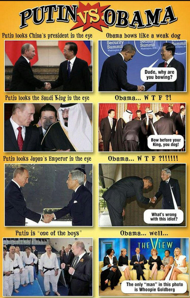 I&#39;m willing to bet my President won&#39;t bow like a dog before the Saudi King ! What say you?   #FridayFeeling <br>http://pic.twitter.com/oZYrKIwGLI
