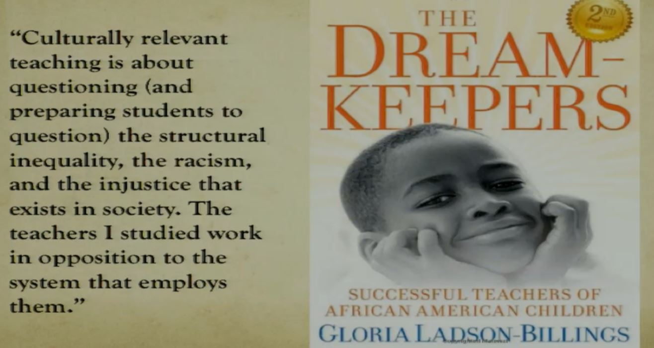 "@django_paris Citing Gloria Ladson-Billings' ""Dreamkeepers"" and one of its most often overlooked quotes #TACDSI17 .@NYUMETROTACD https://t.co/W5psRaGrRk"