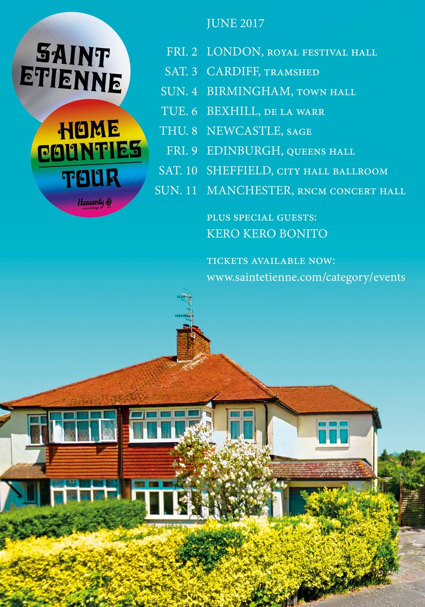#SaintEtienne announce #HomeCounties UK Tour @bobpetesarah @SJMConcerts   http://www. theartsshelf.com/2017/05/19/sai nt-etienne-announce-home-counties-uk-tour/ &nbsp; … <br>http://pic.twitter.com/6Na6XGDq4x