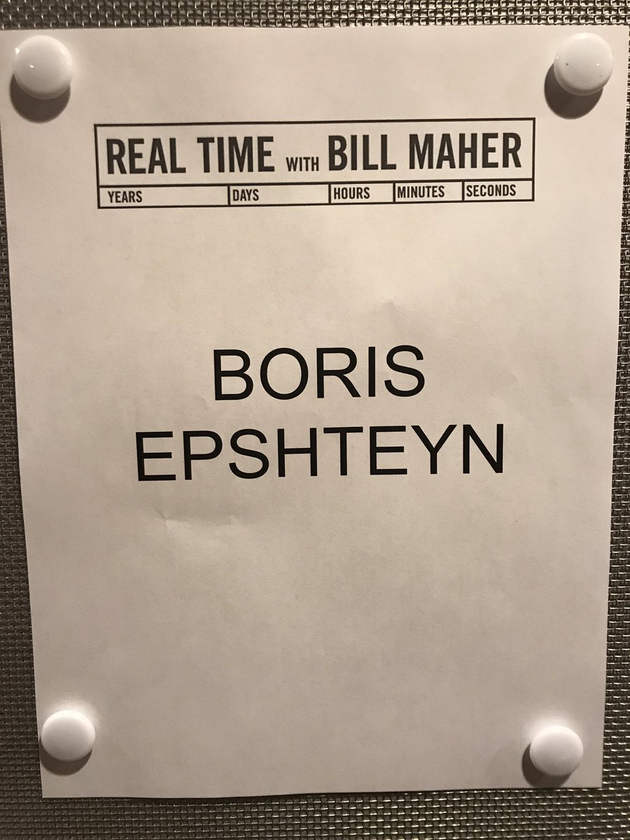 Getting ready for @RealTimers @hbo, will be one on one with @BillMaher...