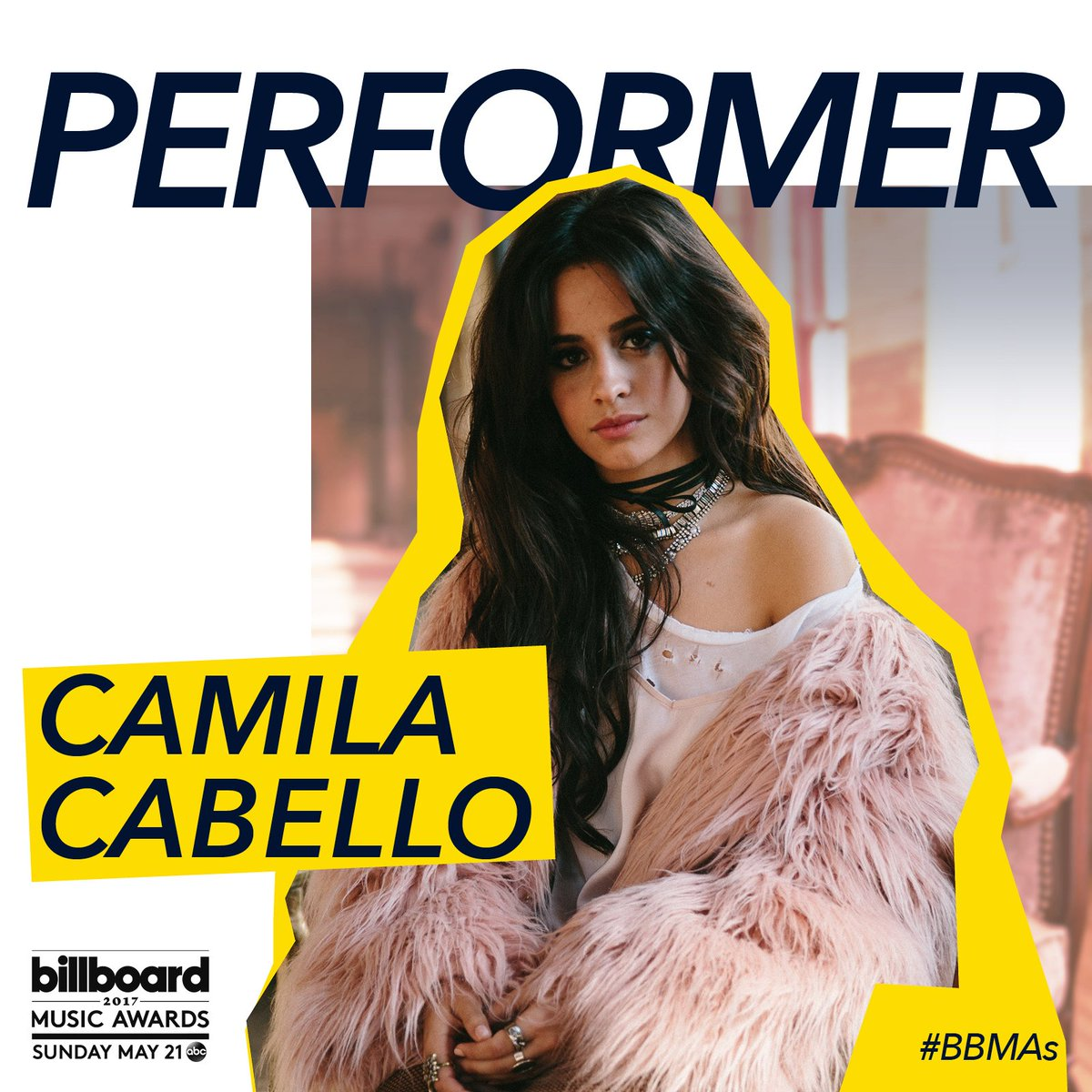 BILLBOARD MUSIC AWARDS • SUNDAY • CAMILA CABELLO • 7PM CST• #bbmas https://t.co/mNCtYew3WB