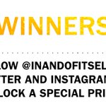 10 of you were messaged at random to be sent a prize. No message? Follow @inandofitself on Twitter and Instagram for something special...