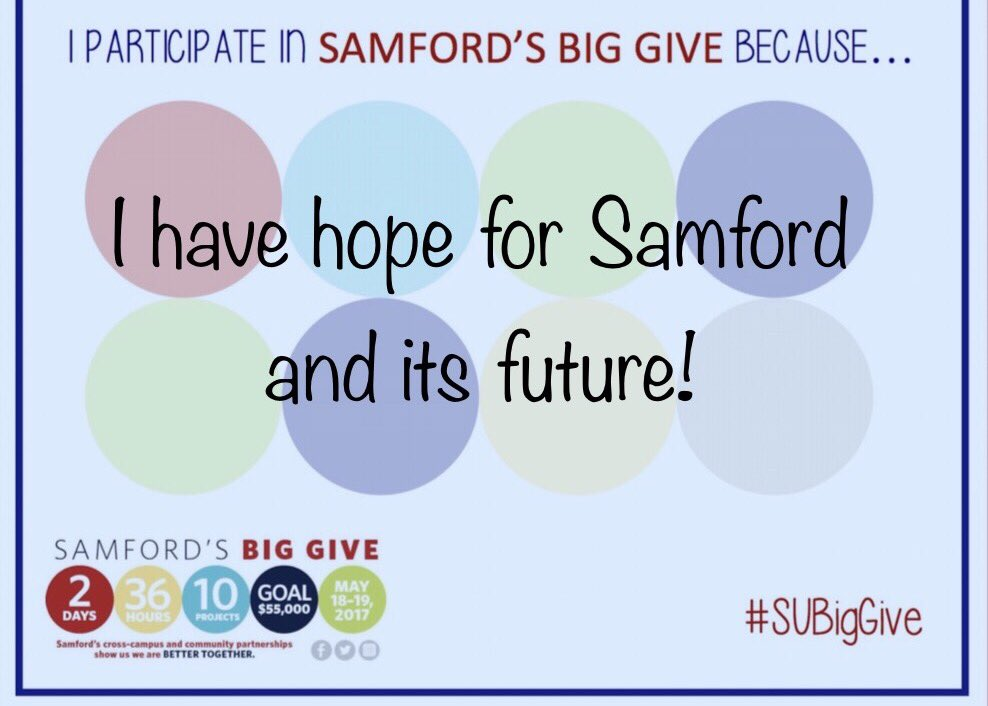Samford&#39;a Big Give! #SUBigGive  <br>http://pic.twitter.com/uOdx4R6L2x