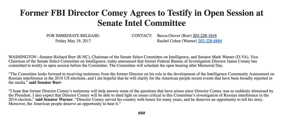Comey: 'Nut job, eh? Well ...' *picks up phone*