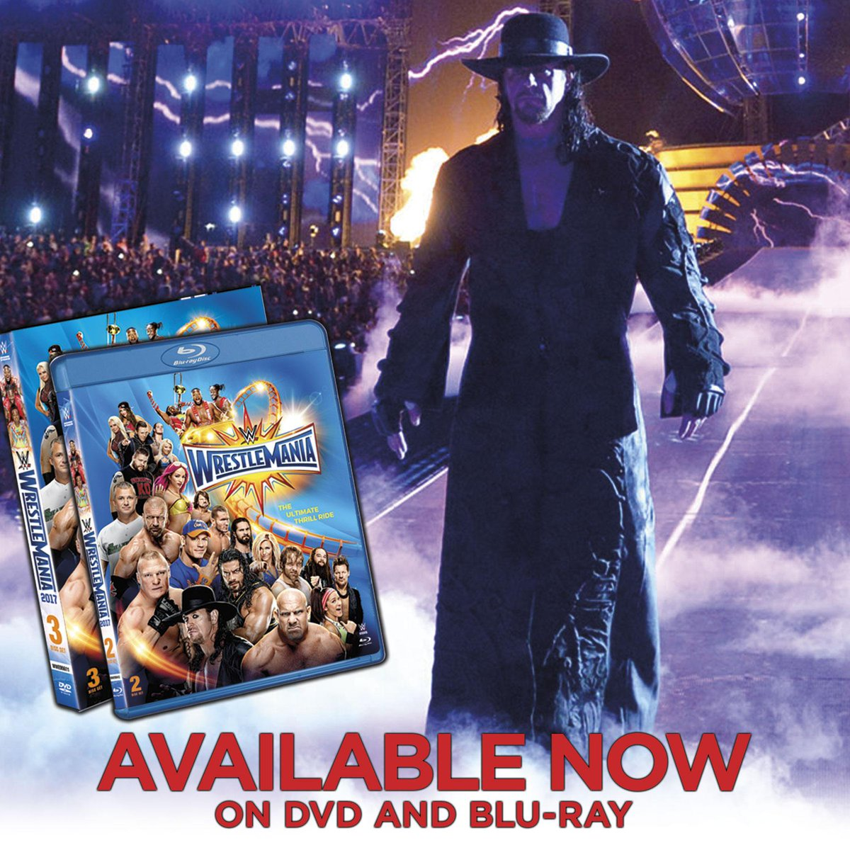 Bring home all the action of @WrestleMania 33 on DVD & Blu-Ray now! #WrestleMania pic.twitter.com/a5TRP4alHO