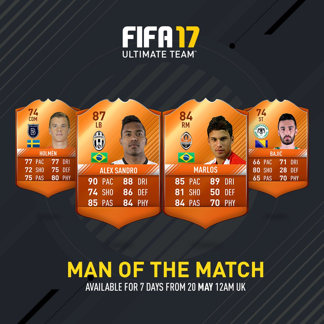 FIFA 17 Man of the Match - Complete List of FUT MOTM Orange Cards