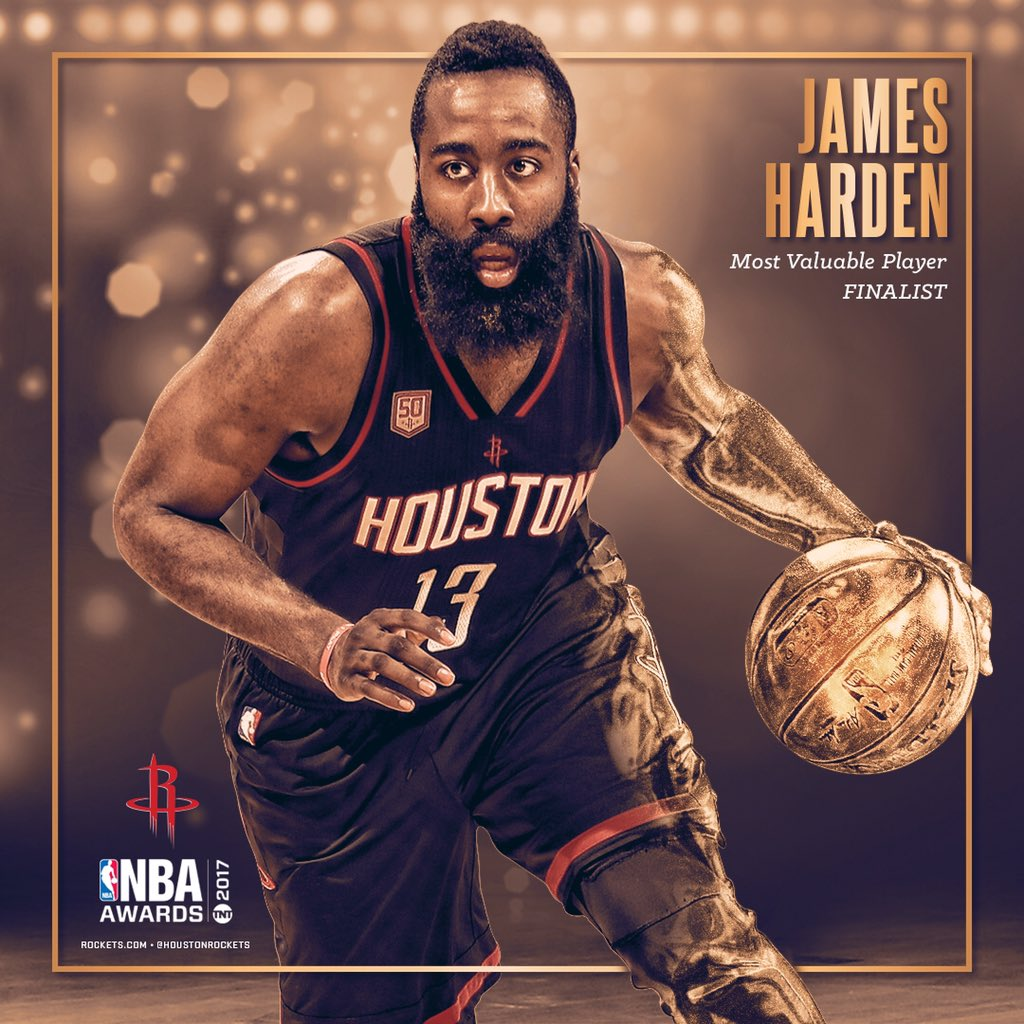Congrats to @JHarden13 for being named a finalist for the #NBA MVP award!