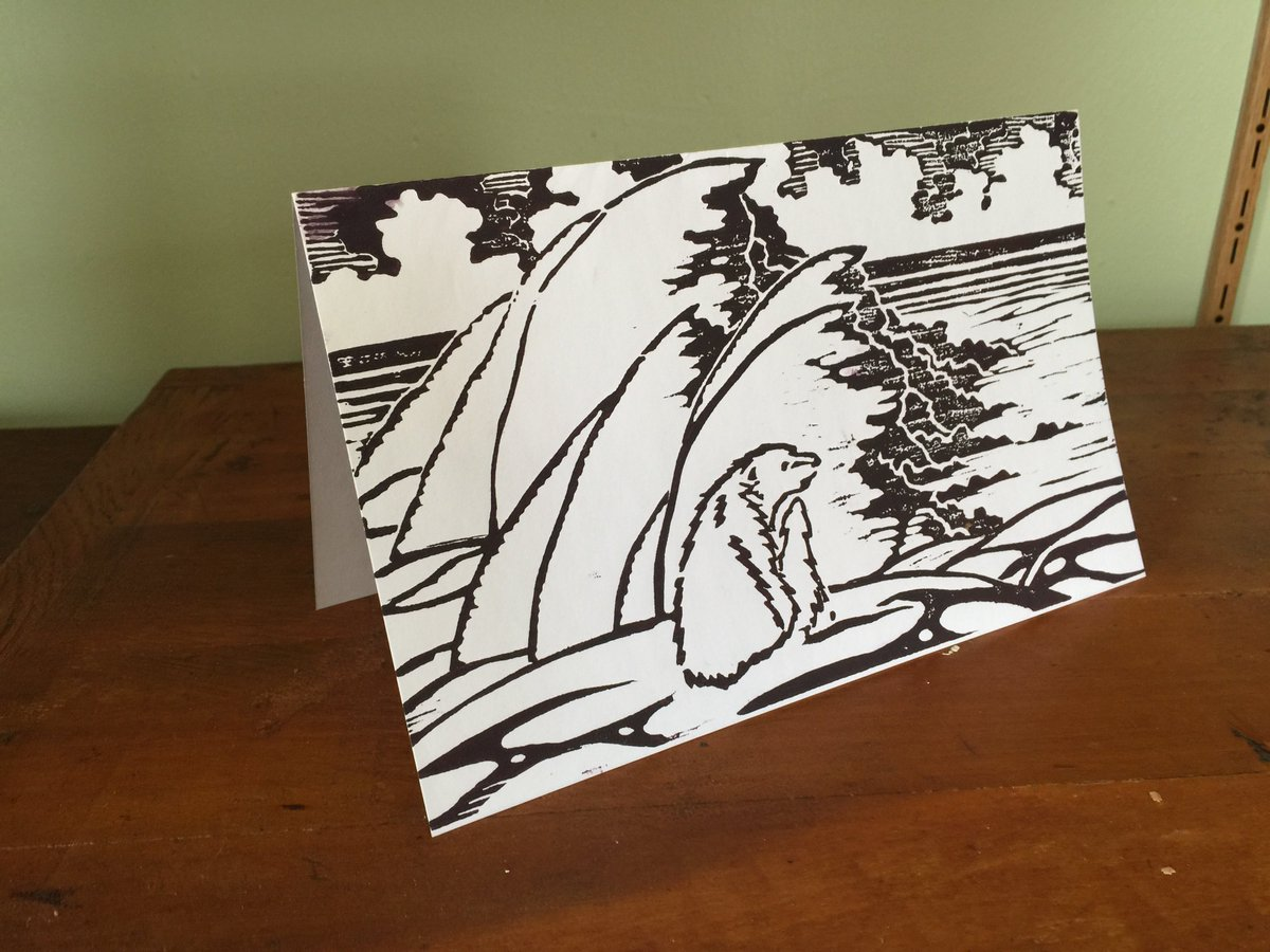 #woodblock #print #polarbear #greetingcards and more #designs to come!! #etsychaching #card #paper #follo4follo #like #forsale #holiday<br>http://pic.twitter.com/9LtEatSFjD