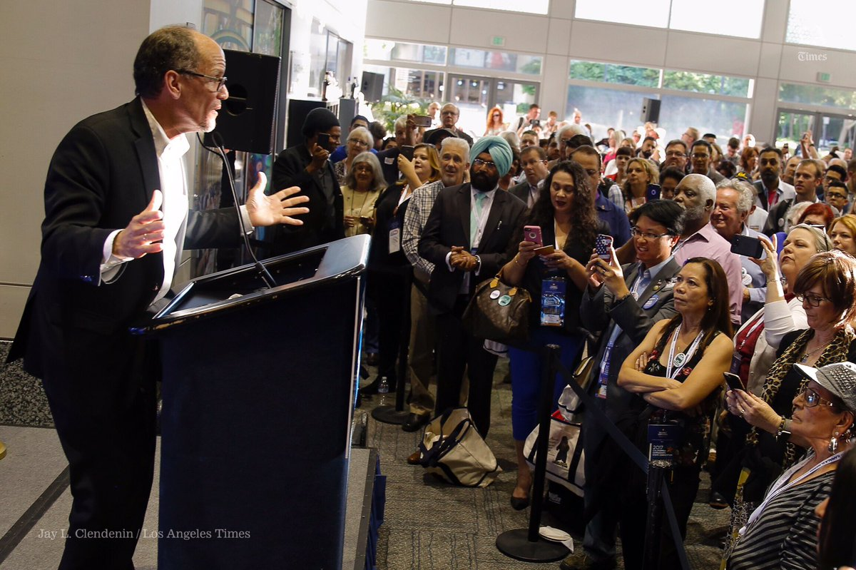 Democratic National Committee Chairman Tom Perez addresses a crowd. (Jay L. Clendenin/Los Angeles Times)