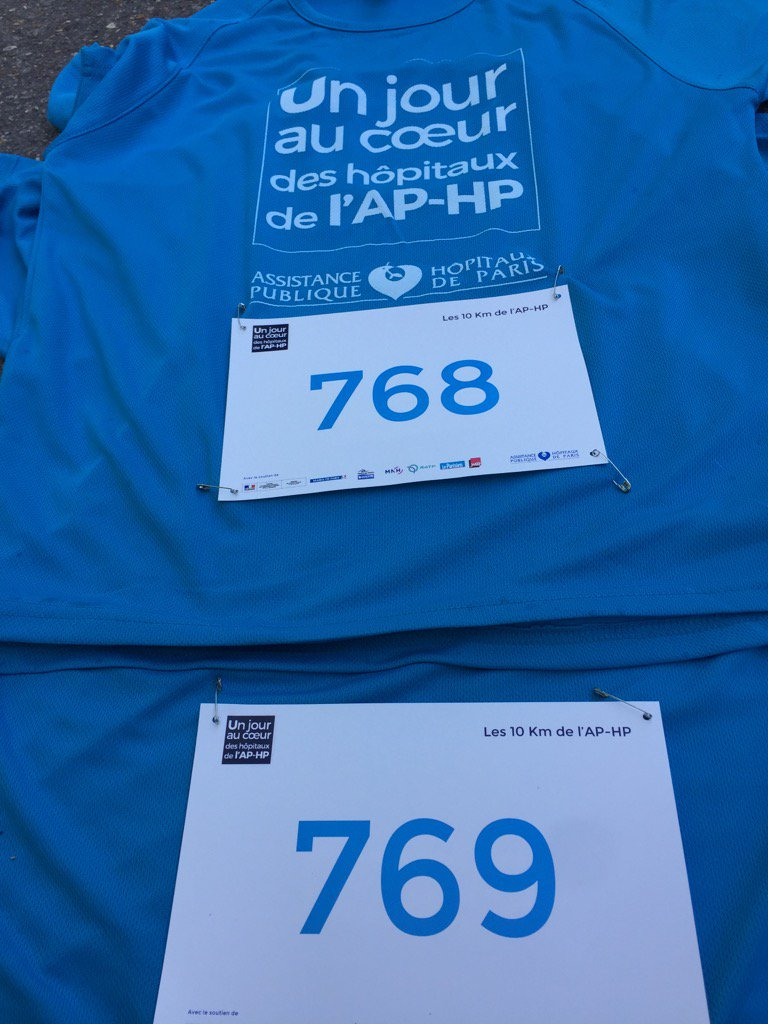 Dossards check #JPOAPHP 10km APHP <br>http://pic.twitter.com/SdC7fRT2mN