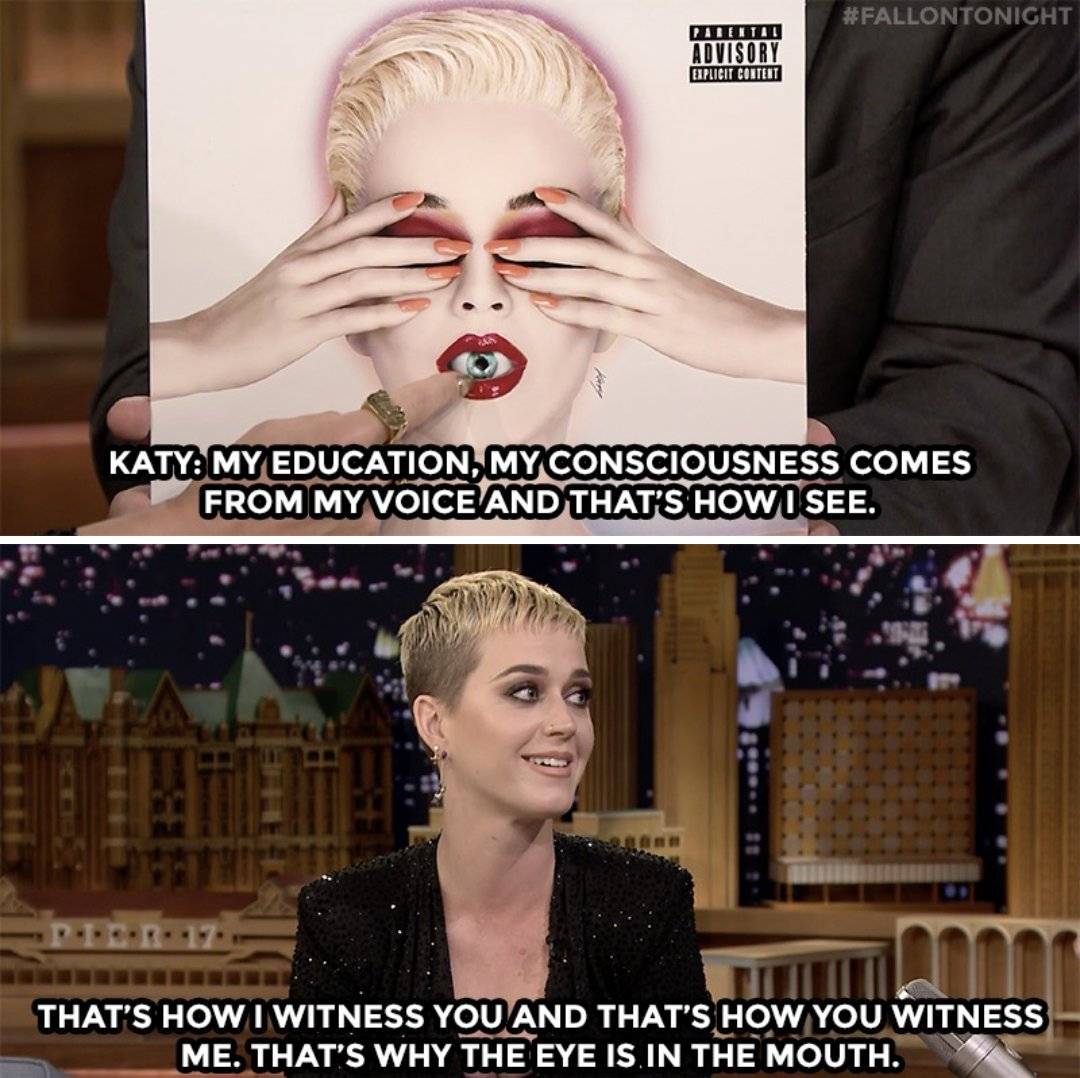 .@katyperry reveals the meaning behind the 'Witness' album cover #Fall...