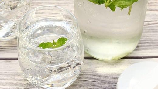 ミントウォーターを簡単に手作りしよう--水と一緒に冷やすだけ【レシピ】   @enuchijpより