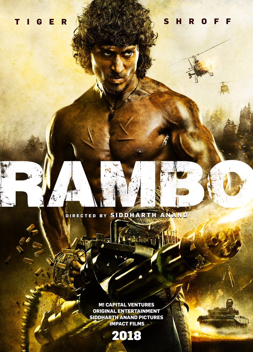 Rambo First Poster starring Tiger Shroff