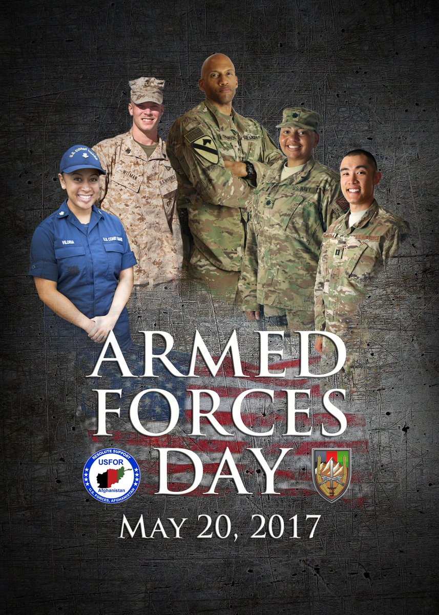 USFOR-A recognizes the immense contribution of all our U.S. Armed Forces every day, not only on #ArmedForcesDay. https://t.co/0vKtWAzXY3