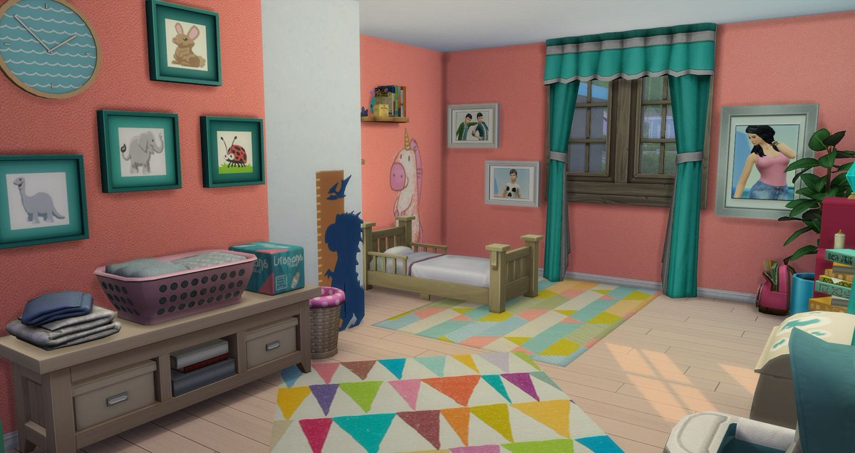 Last room of my future adopted daughter #Sims4 #lessims #construction #chambre #enfant #kids #sims<br>http://pic.twitter.com/b9biazmmw1