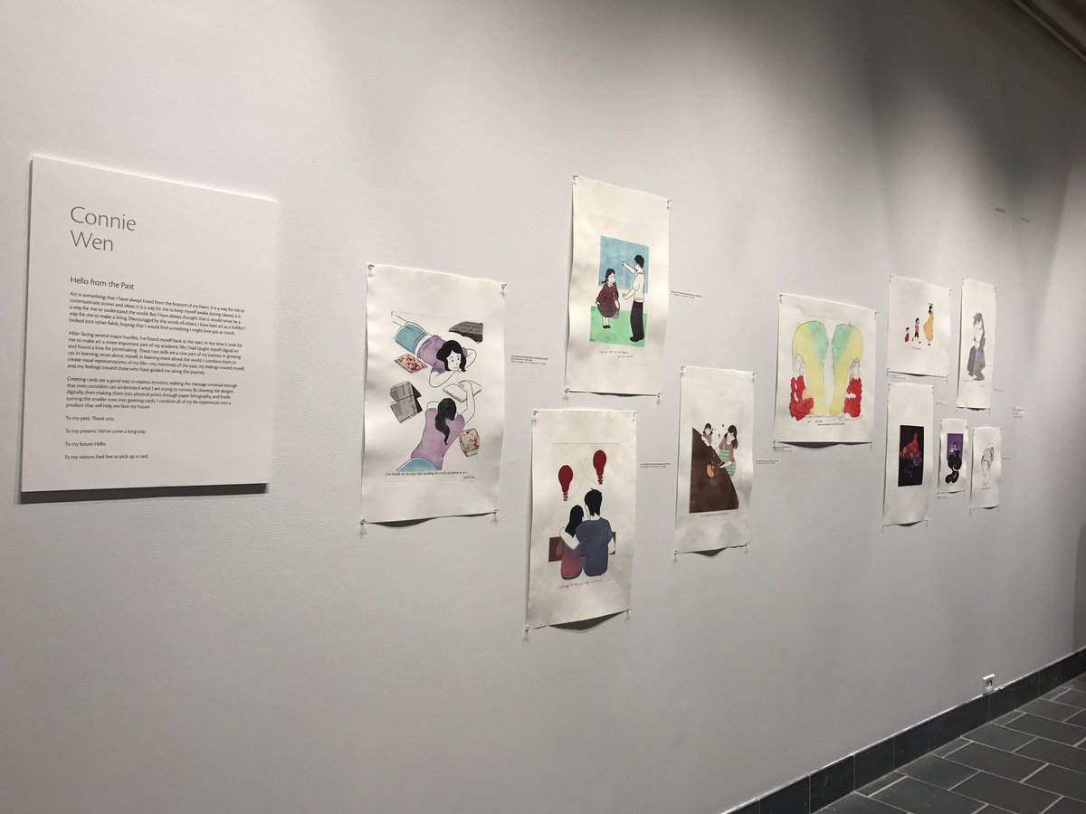 here are pictures of my thesis exhibit if you don&#39;t want to read about the spider #artthesis #printmaking #paperlithography #greetingcards <br>http://pic.twitter.com/63lVZOrSSF