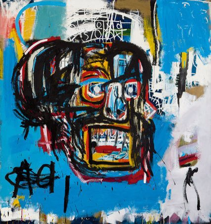 Basquiat painting 1982, sold $110.5 million ARS via Sotheby&#39;s.  Marc Craig work on PVC #marccraig #basquiat  #sothebys #bbc #cnn #times<br>http://pic.twitter.com/yzAqFCWmIR