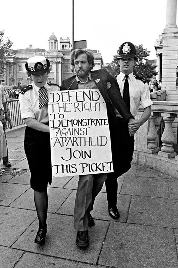 This is @jeremycorbyn out protesting against apartheid in South Africa when he was just a tot! https://t.co/ySe4Yqj7tL
