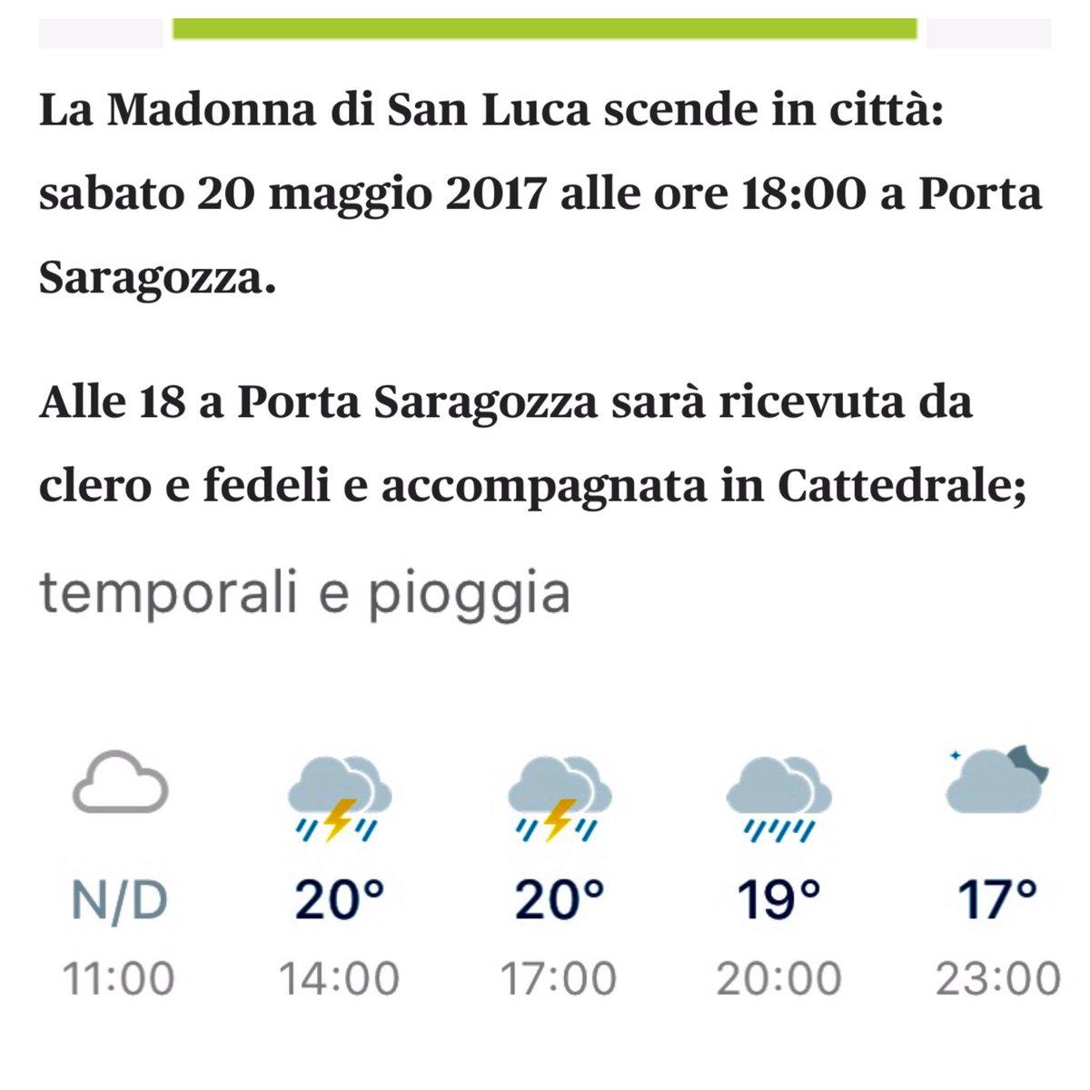 #Bologna #ScendeLaMadonna #ArrivaIlDiluvio #LeTradizioni