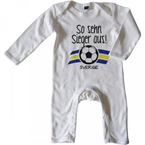 Schweden Mikalino Baby Halstuch Bandana So sehn Sieger aus Sverige mit Klettverschluss